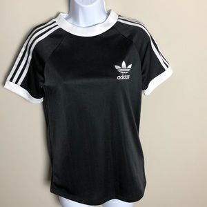 Adidas Black and White Jersey Size S